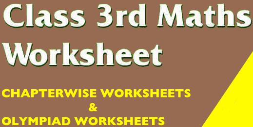 Class 3 maths Worksheets