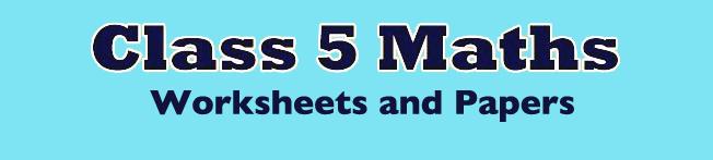 CBSE Class 5 Maths Question Papers