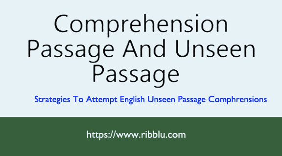 Unseen Passages for Class 8 , 9 and 10