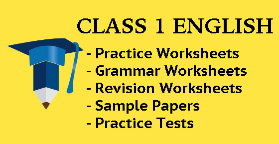 English Worksheet for Class 1