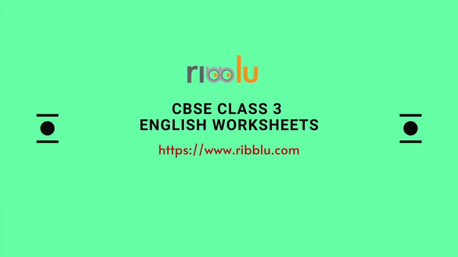 CBSE Class 3 english Worksheets