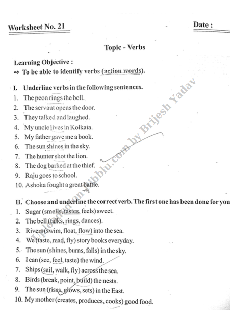 CBSE Class 3 English Worksheets 2020-21