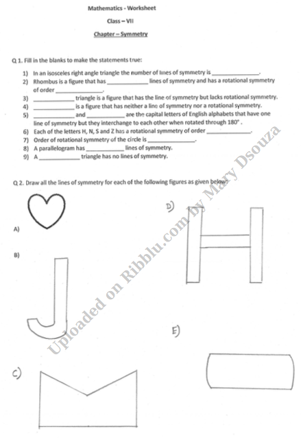 CBSE Class 7 Maths Worksheet for Practice Session 2021-22