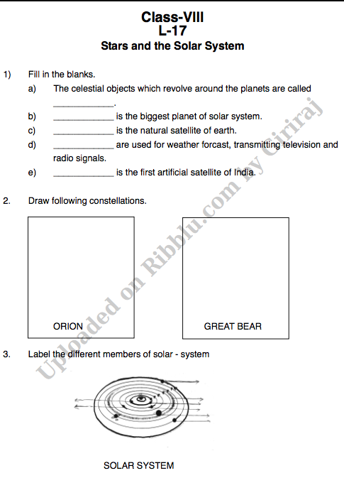 CBSE Class 8 Science Worksheets for Session 2021-22